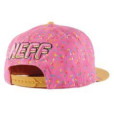 Neff Strawberry Donut Hat Back
