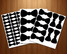 INSTANT DOWNLOAD Bow Tie set Printable Party Favor labels and stickers