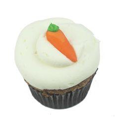 Carrot cake cupcake with cream cheese frosting....mmmmmm....