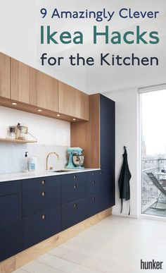 Ikea hacks for your kitchen! From cool new cabinet fronts to savvy DIY kitchen i… Ikea hacks for your kitchen! From cool new cabinet fronts to savvy DIY kitchen islands, you can save money by repurposing Ikea basics into something… Continue Reading → Diy Kitchen Island, New Kitchen Cabinets, Kitchen And Bath, Wood Cabinets, Ikea Cabinets, Modern Cabinets, New Kitchen Doors, Two Tone Cabinets, Classic Cabinets