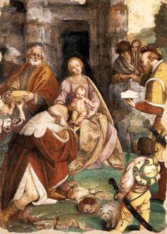 Gaudenzio Ferrari: Adoración magos, 1545.