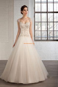 Robe de mariée tulle sans manches dos nu col en coeur belle