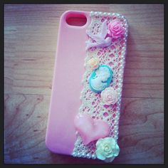 Vintage customised phone case by ChapmansCreations on Etsy