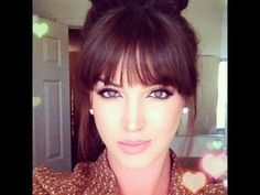 How to style BLUNT BANGS ♡ Using the comb to guide the flat iron is key.