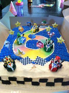 Mario Kart Wii Cake