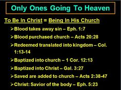Only ones going to heaven?