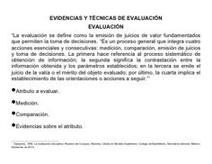 Documento 4 tipos de evidencias técnicas de evaluación