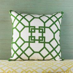 Arbor Trellis Linen Print Pillows