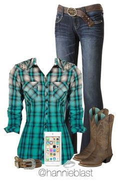 """Dream Outfit + Future Dream Tag"" by hannieblast ❤️ liked on Polyvore featuring Wallflower, Ariat, M&F Western, Apple, bedroom, country and MyDreamLife"
