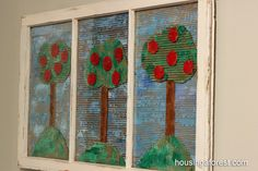 Recycled Cardboard Apple Tree - with LOTS of links to apple projects at the bottom of the post!