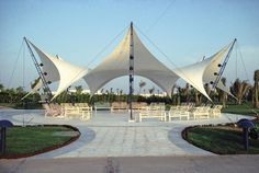 Tent Structures for a Beach Residence at the Red Sea, Thuwal - SL RASCH - Special and Lightweight Structures