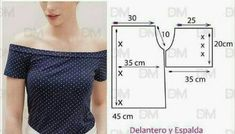 Top Pattern, Dress Patterns, Sewing Patterns Free, Sewing Tutorials, Clothing Patterns, Sewing Clothes, Diy Clothes, Sew Off Shoulder Top, Apparel Design