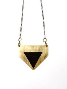 NEW ITEM Tri Chevron Tribal Necklace Made to order by LairaLou, $68.00
