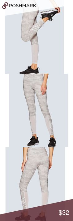 RBX Light Camo Leggings 🌴 RBX Light gray and white Camo Mesh sides Hidden pocket  Brand new without tags.  Size Medium Bundle & save ✌️ Pants Leggings