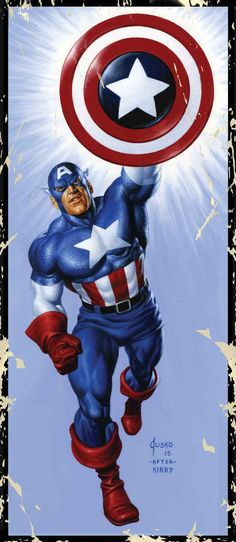 Captain America by Joe Jusko (After Kirby)