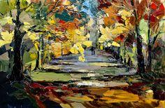 "Saatchi Art Artist Eva Czarniecka; Painting, ""Autumn Falls"" #art"