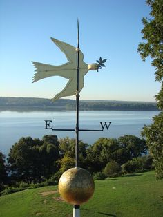 dove of peace weather vane at George Washington's Mount Vernon...