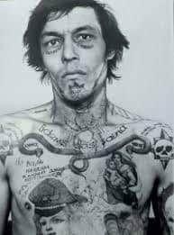 MOB Tattoo 14 Russian Mafia Tattoos, Russian Prison Tattoos, Russian Criminal Tattoo, Mob Tattoo, Tattoo You, True Tattoo, Russian Tattoo Meanings, Crime, Face Tattoos