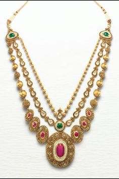 Gold Necklace Designs in 40 Grams - 15 Evergreen Collection Pakistani Jewelry, Indian Jewelry, Italian Gold Jewelry, Urban Jewelry, Wedding Earrings Drop, Drop Earrings, Gold Set, Jewelery, Gold Jewellery