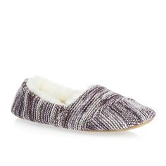 Urban Knit Painted Slippers - Cream/Lt Mauve/Purple   Free Delivery