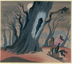 Concept art for Disney's Ichabod and Mr. Toad (1949) by Mary Blair