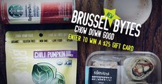 Enter to win 1 of 10 $25 gift cards to Starbucks and take a #byteoutoflife with a large stash of savory and crispy Brussel Bytes.