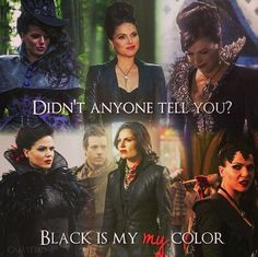 """Black is my color"" I yelled so hard at this part. Regina ftw!!"