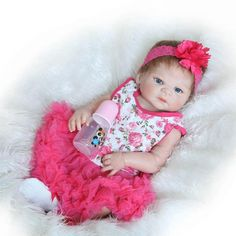 145.80$  Watch now - http://alijdl.worldwells.pw/go.php?t=32763863591 - Handmade Early Education Reborn Girl Baby Dolls Lifelike Silicone Newborn Babies For Kids Gifts Reborn Dolls House Play Partners