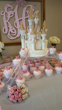 1st bday princess party for my best friend's daughter...2nd castle cake I've done...and they r a pain!