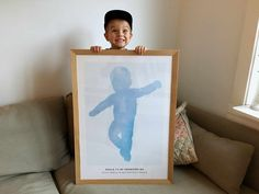 """How cute is Jørgine´s son, Sokrates!!  One of Norways biggest bloggers love her new poster of her son in blue """"Aquarelle"""". Go to her webpage and get inspired! www.funkygine.no"""