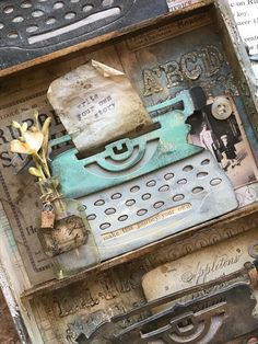 Write Your Own Story-Featuring the Tim Holtz Sizzix Retro Type Bigz Big Shot, Nest Design, Design Art, Blend Tool, Blog Art, Retro Typewriter, Paper Art, Paper Crafts, Crackle Painting