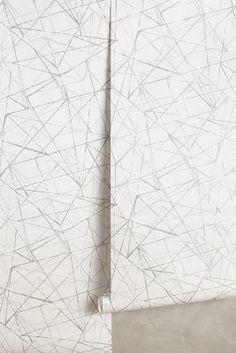 Anthropologie Metallic Angles Wallpaper #anthrofave