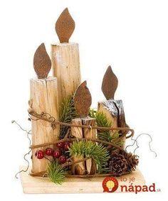 Nemusí to byť len klasický veniec z čečiny: 24 úchvatných dekorácií na adventný stôl, ktoré vám určite tak skoro nezvädnú! Christmas Wood Crafts, Rustic Christmas, Christmas Projects, Handmade Christmas, Holiday Crafts, Christmas Ornaments, Christmas Night, Christmas Makes, All Things Christmas
