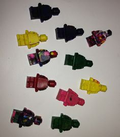 Lego Party - party favors- lego minifigure crayons