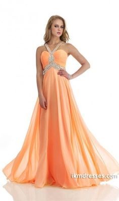 015 Halter A Line Prom Dress Open Back Chiffon Court Train With Rhinestone http://www.ikmdresses.com/2014-Halter-A-Line-Prom-Dress-Open-Back-Chiffon-Court-Train-With-Rhinestone-p83089