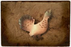 Woodgrouse on action - copper necklace. Jewellery made by Tytti Bräysy