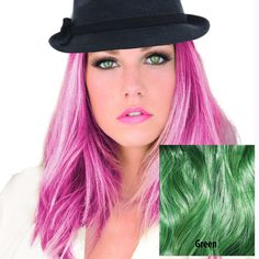 Adorna Splash by Milano Collection Premium Colored 6 Piece Hair Extension 160 Grams Density In Green Includes Fastening Kit -- Awesome products selected by Anna Churchill