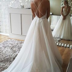 Backless Wedding Dresses #BacklessWeddingDresses, Cheap Wedding Dresses #CheapWeddingDresses, Wedding Dresses Lace #WeddingDressesLace