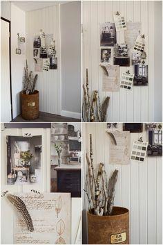 Dekoidee Wandverkleidung DIY Aus Holz. Selber Machen. Wand Mit Holz  Verkleiden. Wandvertäfelung. Moodboard Inspirationswand Kreidefarbe Von  Painting The ...