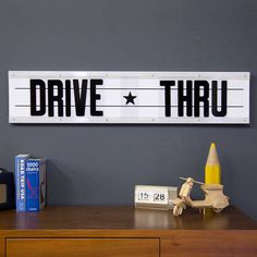 I've just found Customisable Cinema Sign With A To Z Cards. Classic metal type board inspired by classic American Drive-thrus, movie theatres and diners!. £125.00