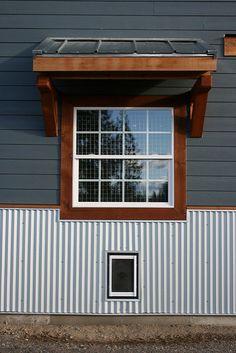 Laundry window, overhang and dog door | Flickr - Photo Sharing!