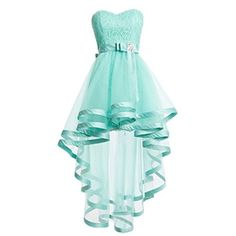 Mint Green Homecoming Dress, High-Low Dress,Lace Dress And Tulle Prom Dresses,Sweetheart Homecoming Dress