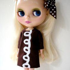 Cupcake Dress for Blythe Doll Pistachio Libby Original Design
