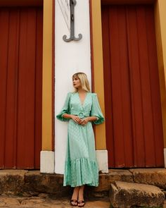 SATIN DOT BELTED MIDI DRESS | PatBO Clothing Size Chart, Fabric Covered Button, Crepe Fabric, Dress To Impress, Dress Up, Satin, Belt, How To Wear, Dessert
