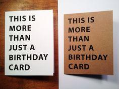 Scheda di compleanno divertente - scheda di compleanno fatto a mano