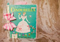 vintage golden book turned scrapbook Lindsay Faye: a little golden book re-do