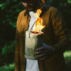This portable campfire log: | 17 Gifts Outdoorsy People Will Absolutely Love