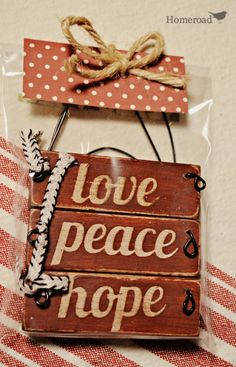 Set of 3 Wooden Christmas Ornaments by Homeroad on Etsy, $10.00