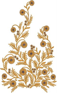 Latest Home Décor Designs for Pillow, Curtains, Bed Sheet, Border Embroidery Designs, Embroidery Suits Design, Embroidery Motifs, Machine Embroidery Designs, Gold Embroidery, Baroque Pattern, Baroque Design, Black And White Flowers, Blossom Trees