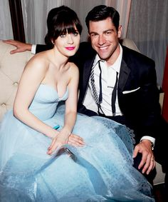 buddies       Zooey & Max -FOX And FX Post Emmy Party in LA    Can I please have this dress? And an invite to an event where I can wear it?